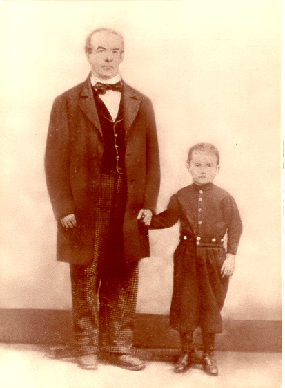 George Lodge and son, Henry, 1870's